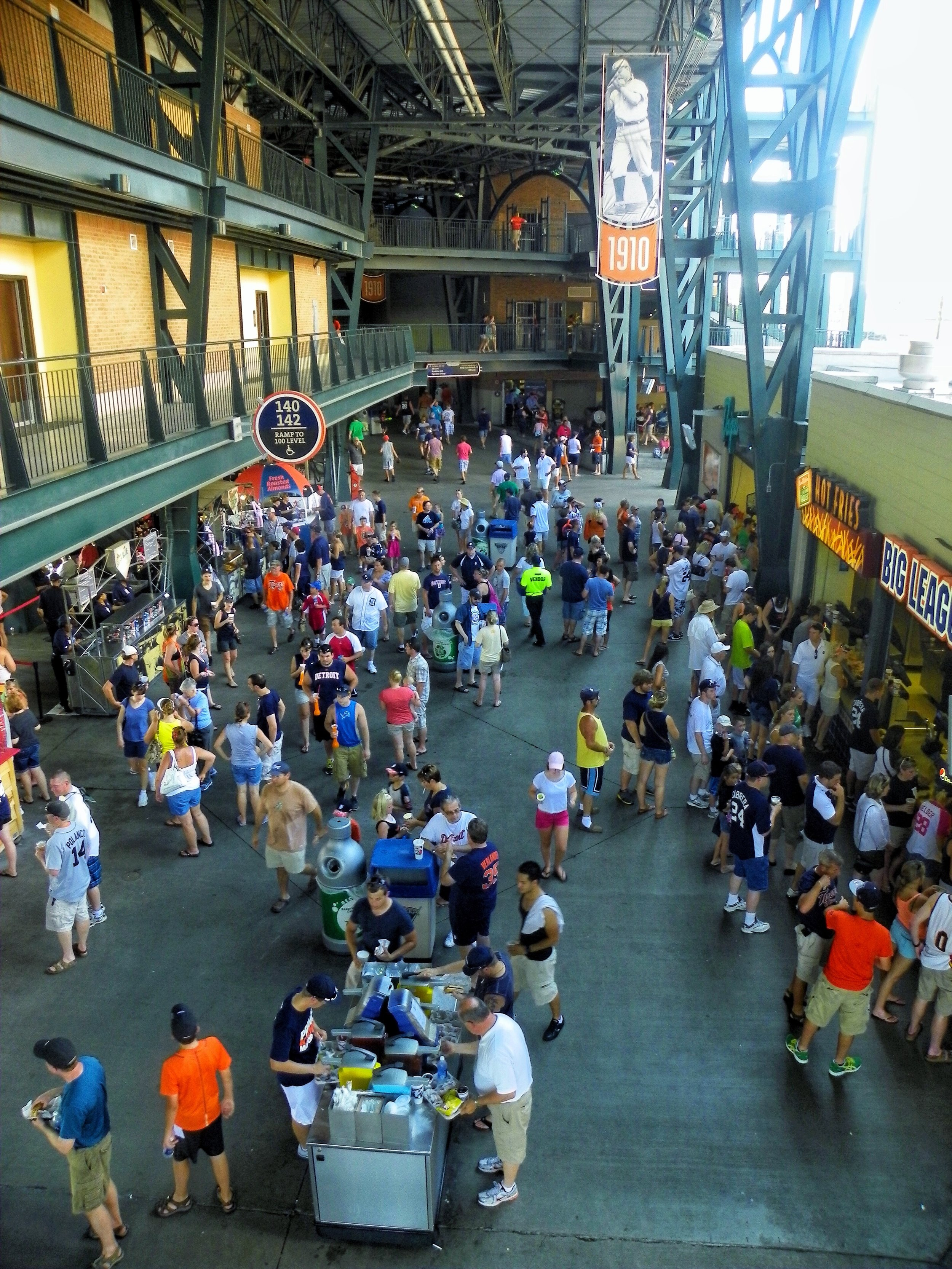 A view of the main concourse from the second level