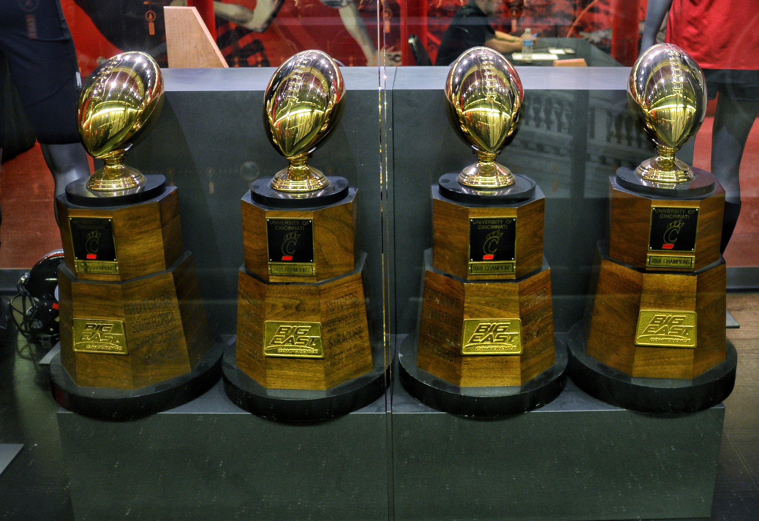 The Bearcats have won 4 Big East Conference titles finishing first in 2008, 2009, 2010 & 2011