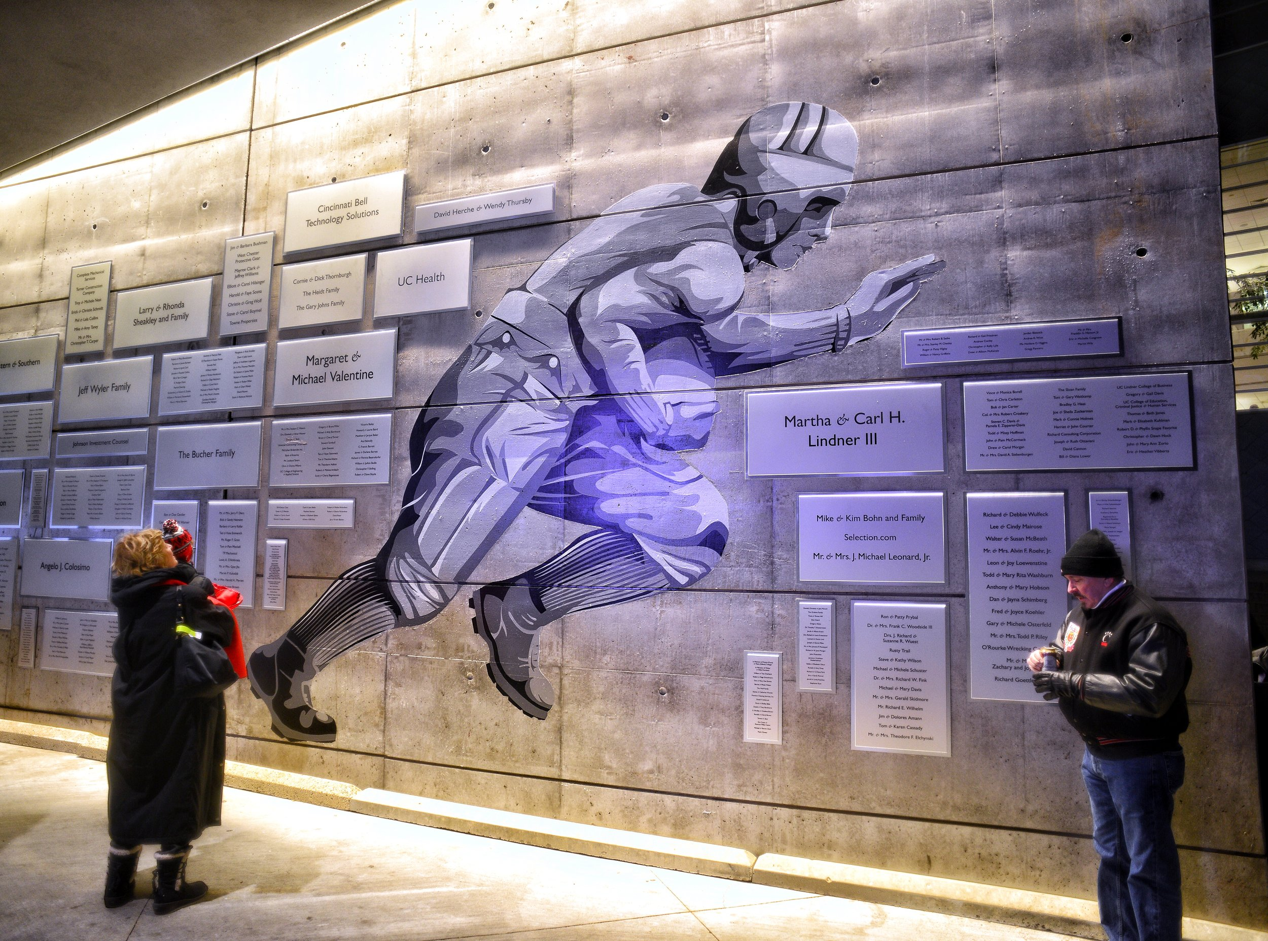 "The James Gamble Nippert mural. Nippert's last words before he died in 1923 were   ""Five more yards to go then drop..."""