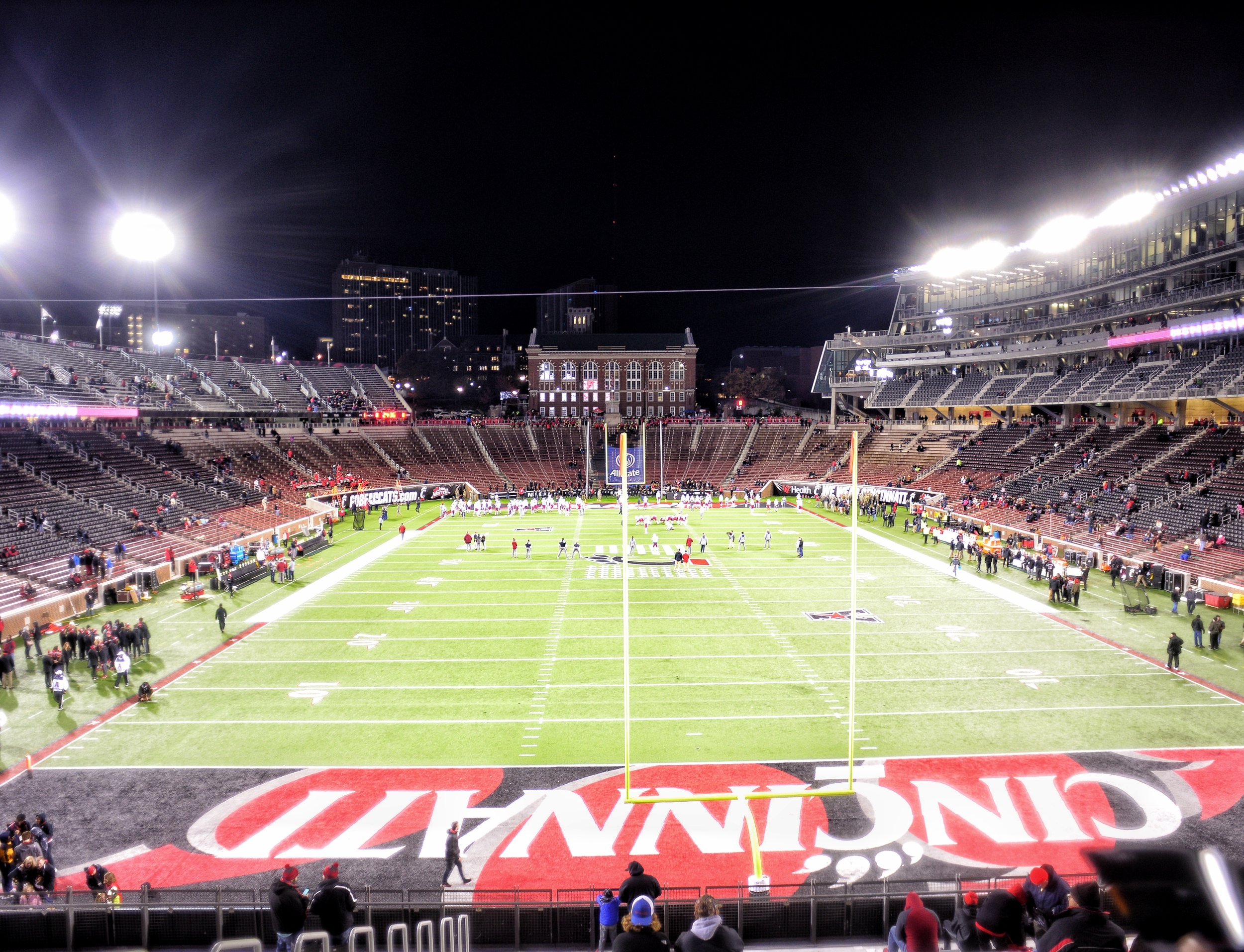 Cincinnati's Nippert Stadium,   originally built in 1915, is one of the 4 oldest on Campus stadiums in the country.
