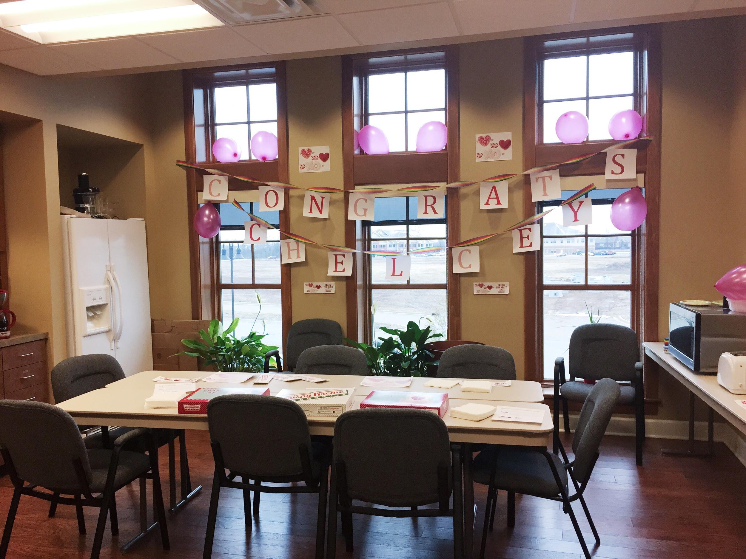 Surprise Office Party Krispy Kreme