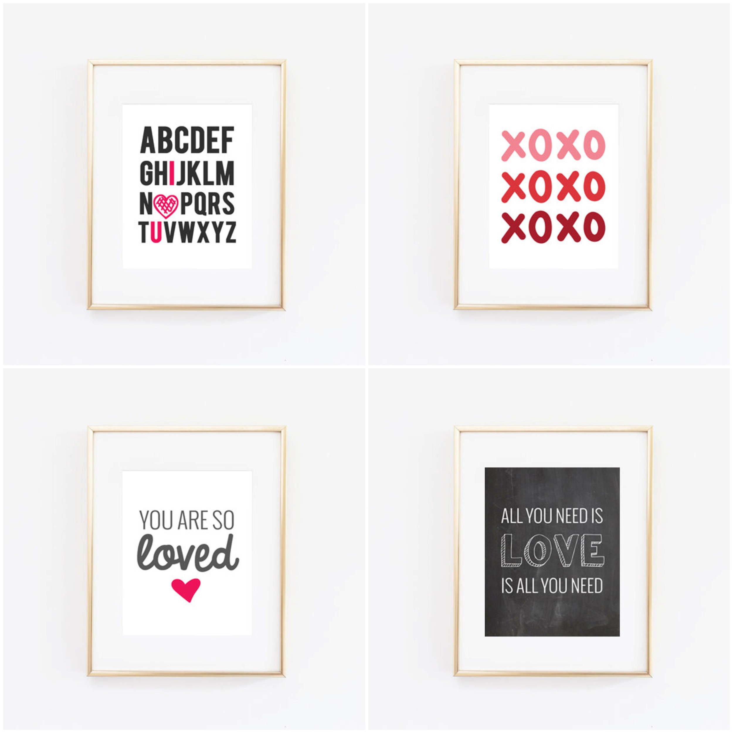 Free Valentine's Day Printables from chelceytate.com