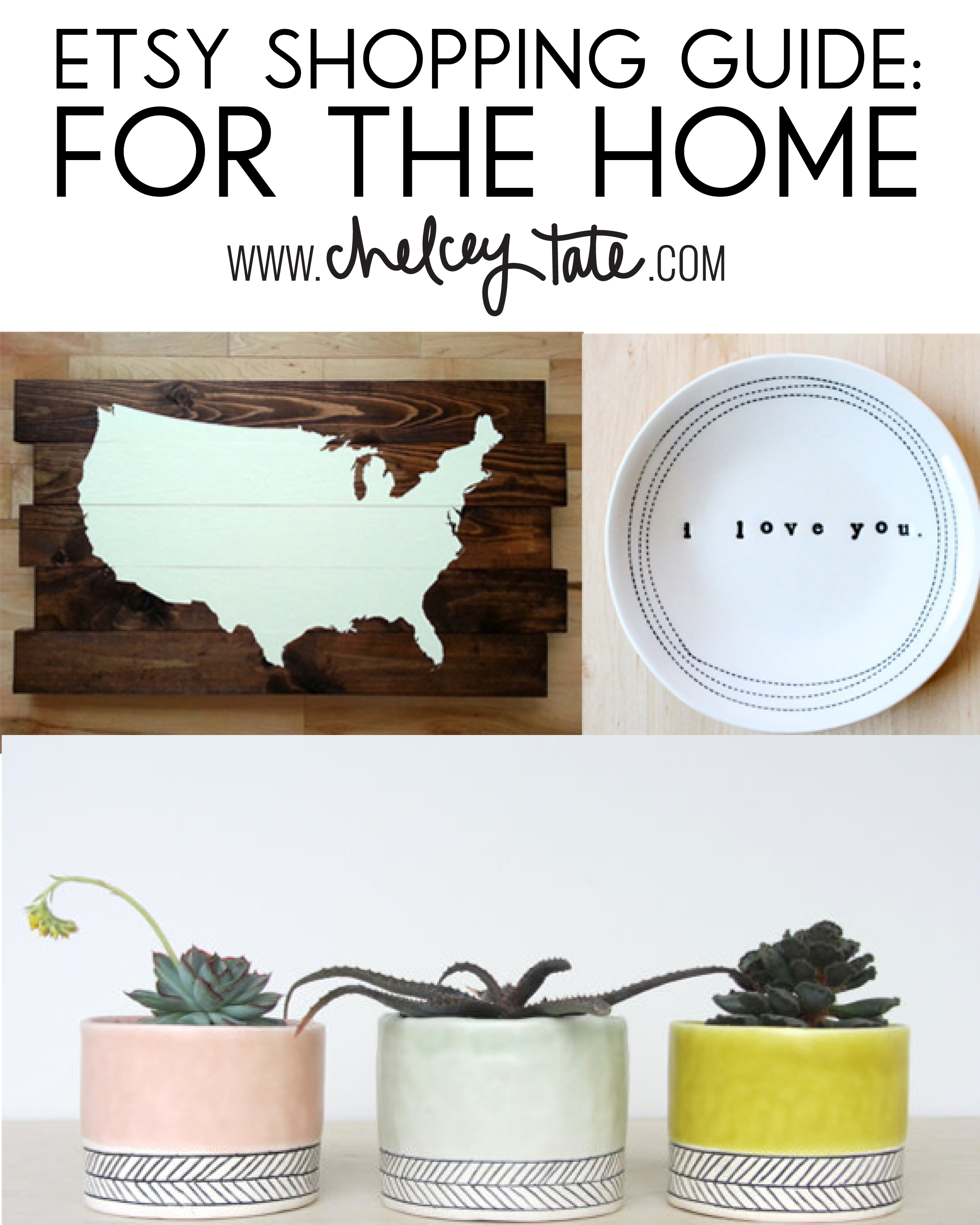 Etsy shopping guide for the home