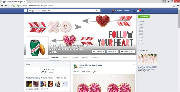 Krispy Kreme Facebook Cover Photo by Chelcey Tate