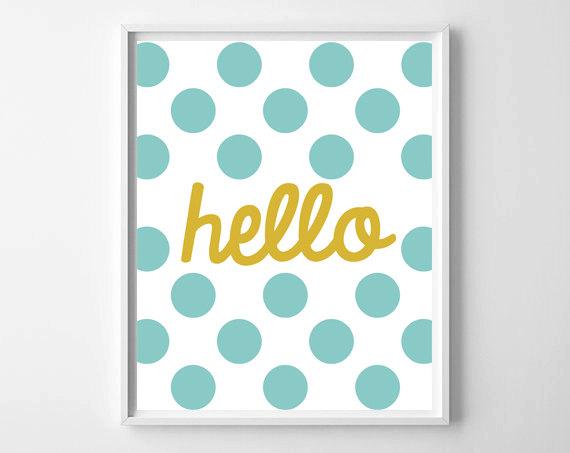 Hello - Polka Dots!