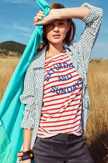 Saturdays + Sundays Striped Weekend Tee from Anthropologie