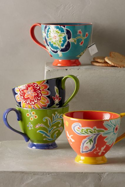 Bellina Blooms Mug - Anthropologie