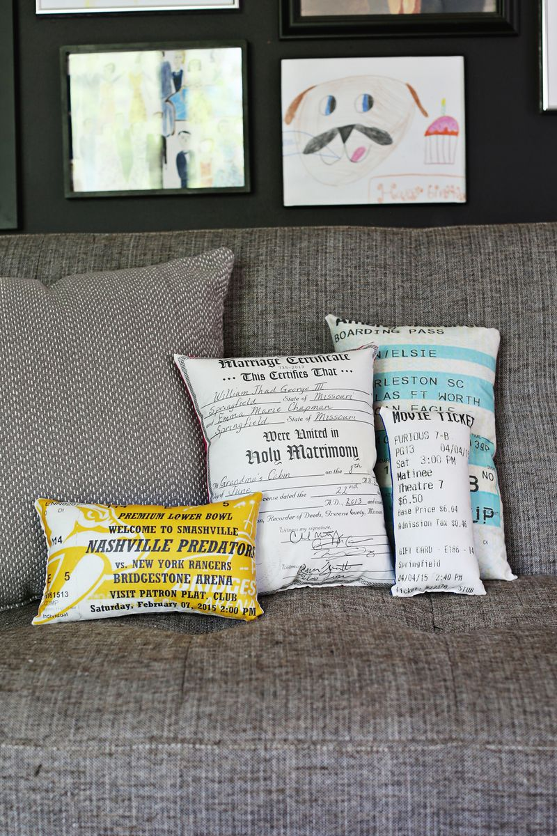 Decorative Plush Document Pillows by A Beautiful Mess featured on Chelcey Tate's Weekly Update