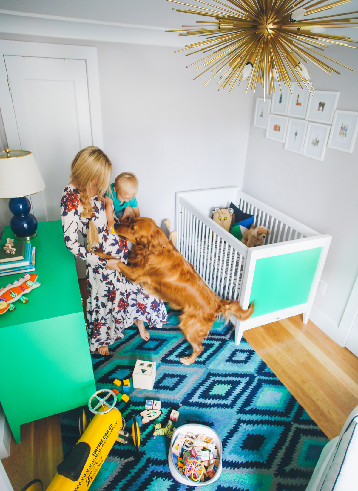 Atticus' NYC Nursery by Barefoot Blonde ft on www.chelceytate.com