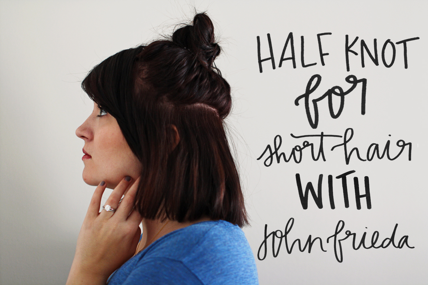 Half Up Top Knot For Short Hair With John Frieda