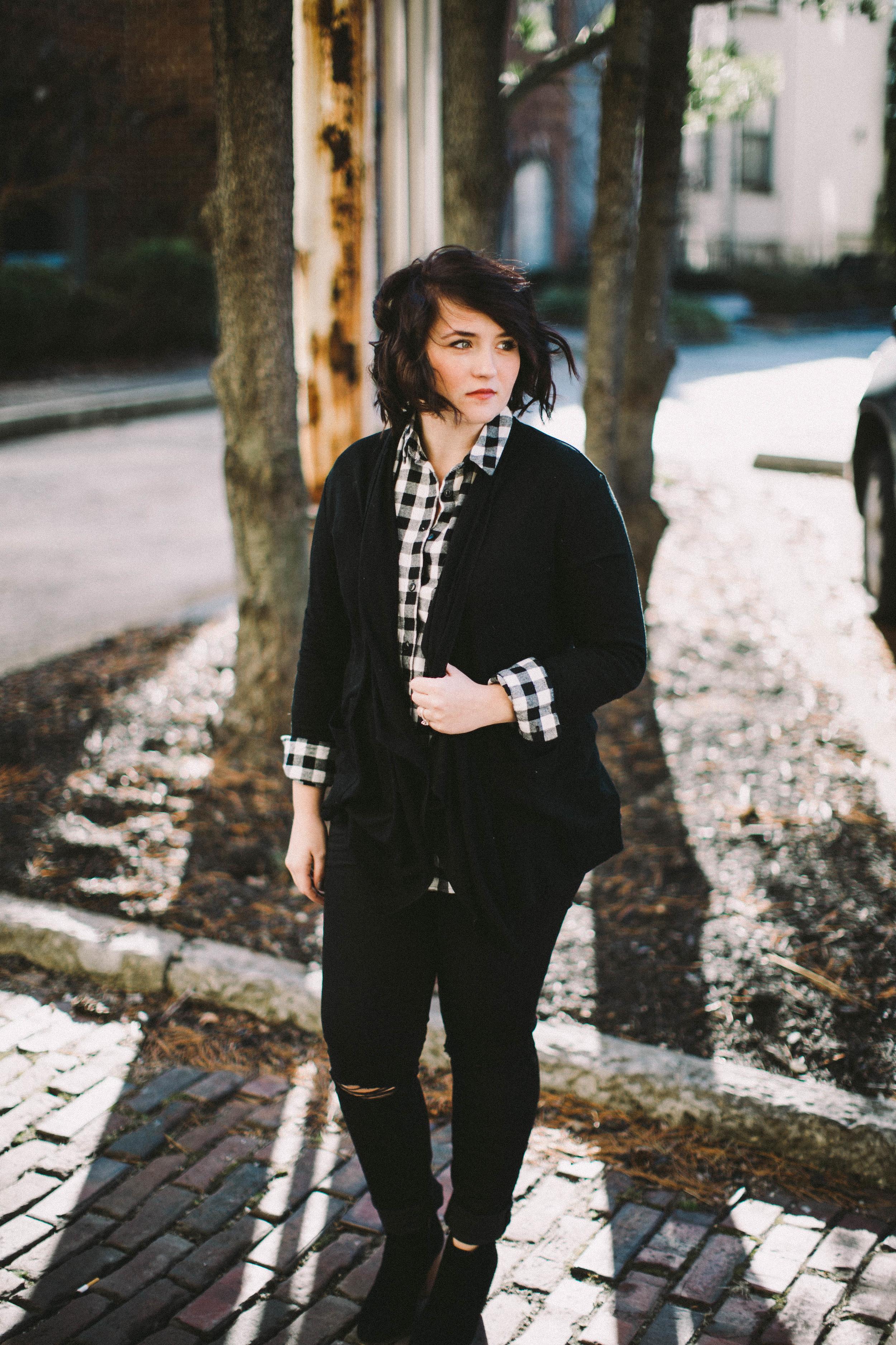 Black, White + Flannel via www.chelceytate.com