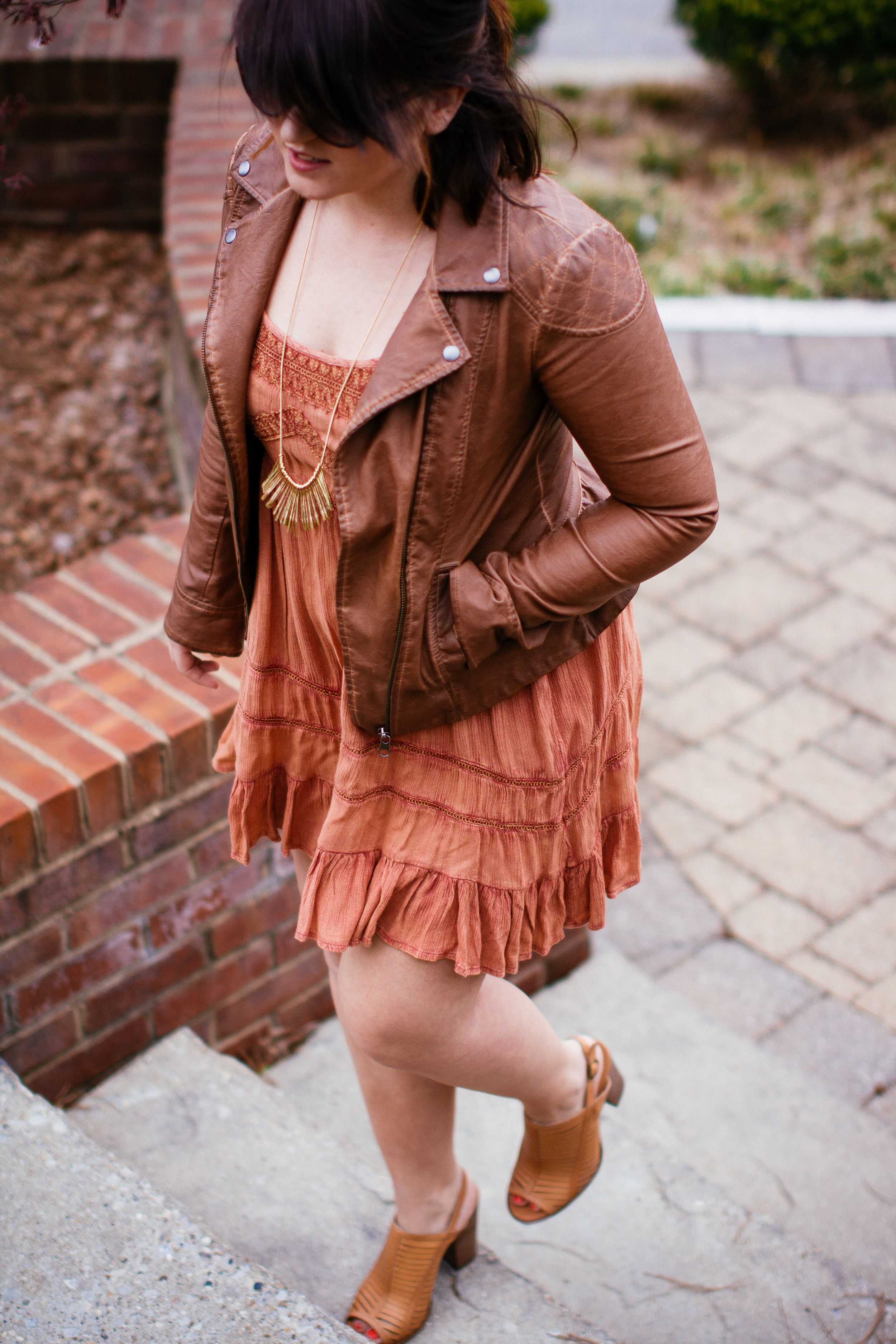 Spring Style Leather Jacket www.chelceytate.com
