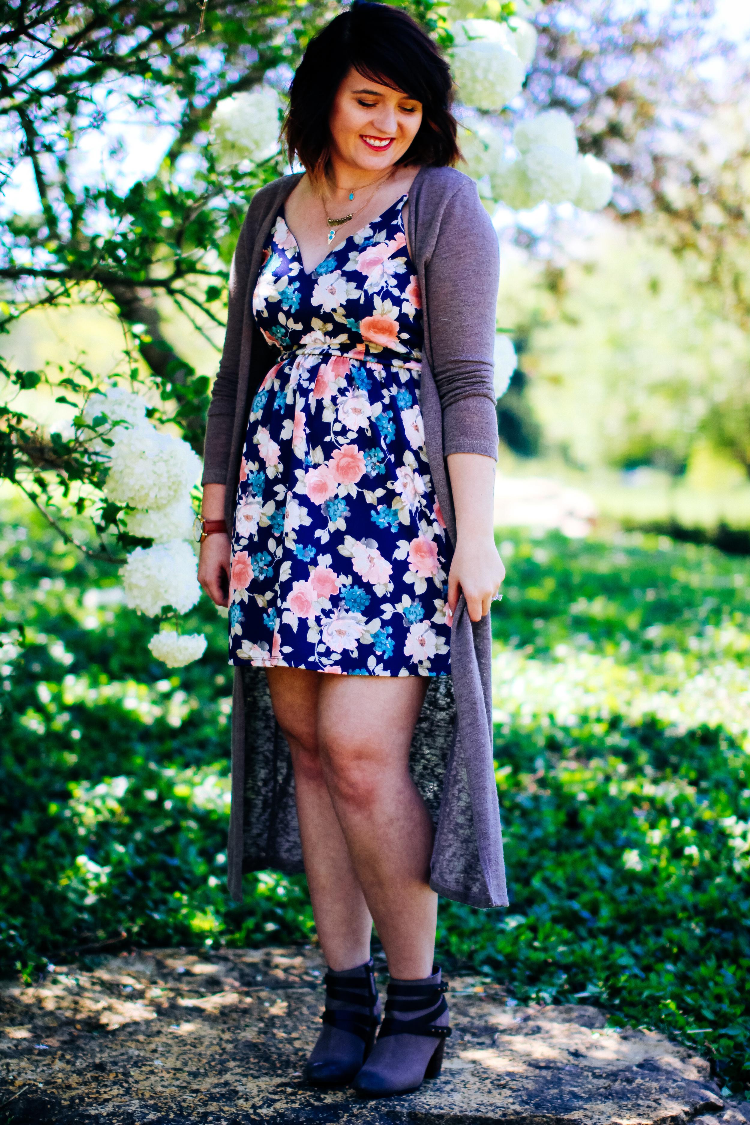 Flirty in Floral Modcloth Dress via www.chelceytate.com
