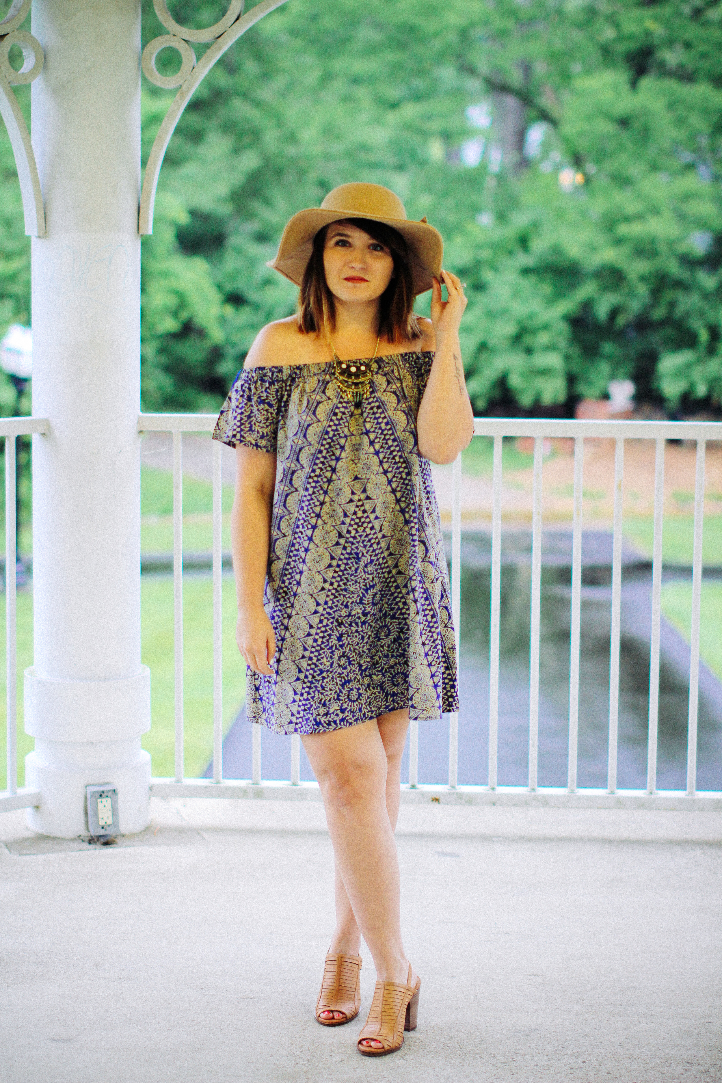 Cold Shoulder Urban Outfitters Dress Summer Style via www.chelceytate.com