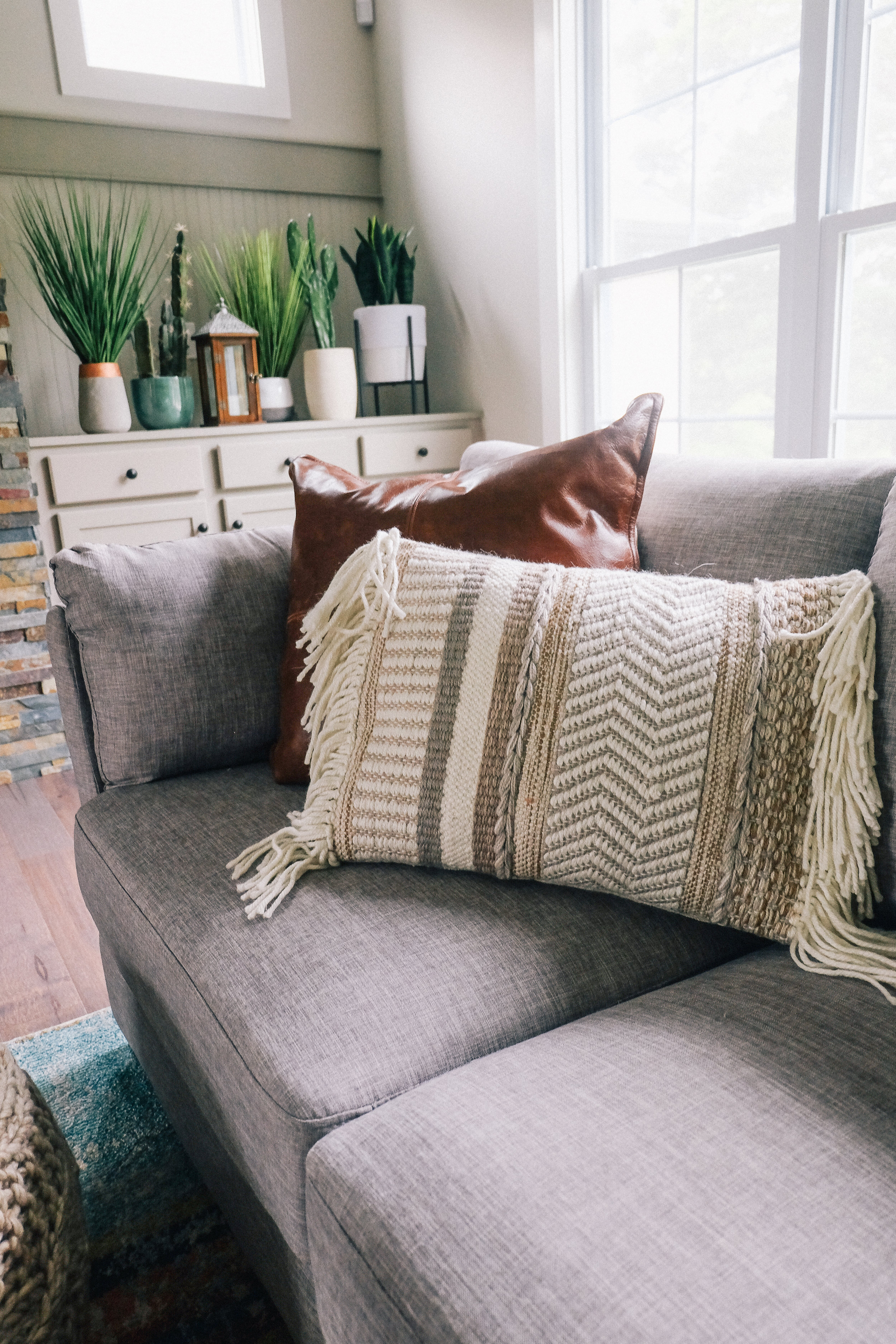 Cozy Living Room Reveal With World Market via chelceytate.com