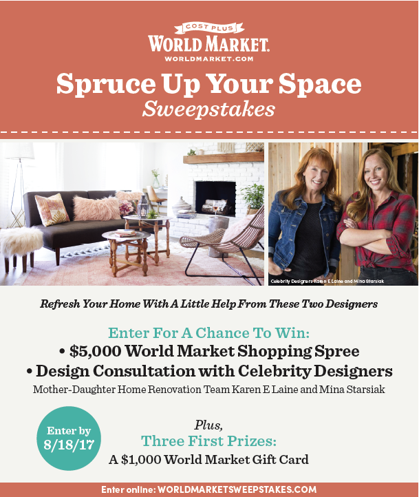 World Market Giveaway via www.chelceytate.com