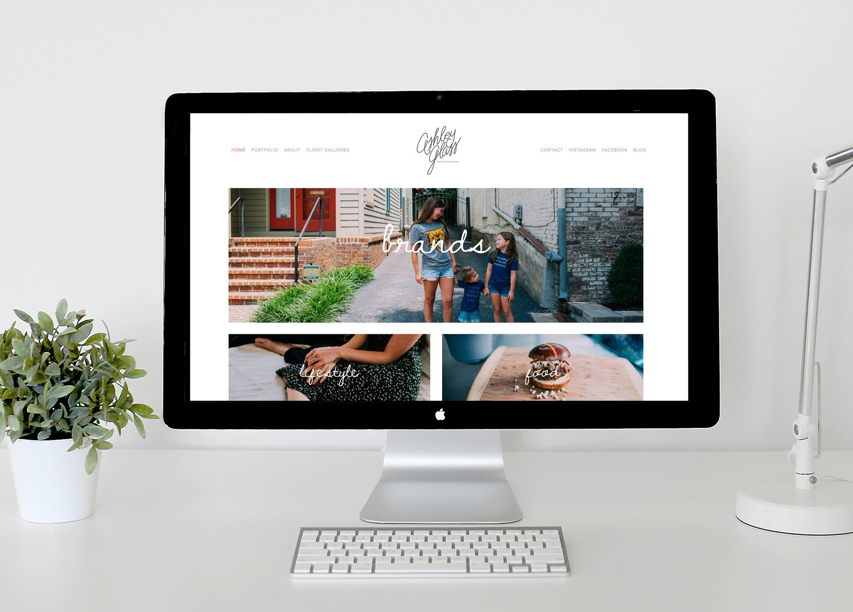 Ashley Glass Photography Squarespace Website via Squarespace Designer Chelcey Tate
