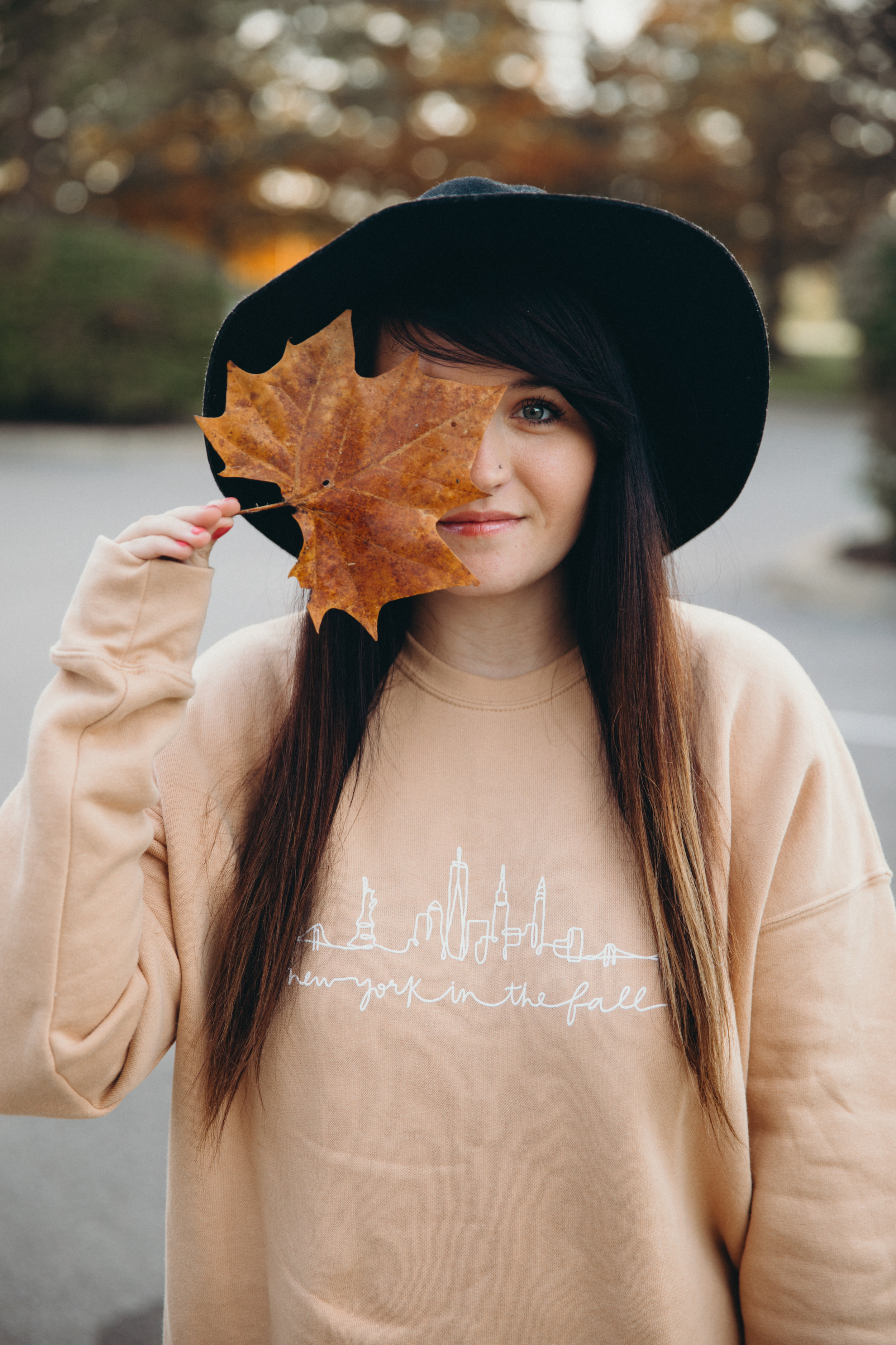 New York In The Fall You've Got Mail Sweatshirt Chelcey Tate x The Cake Shop www.chelceytate.com