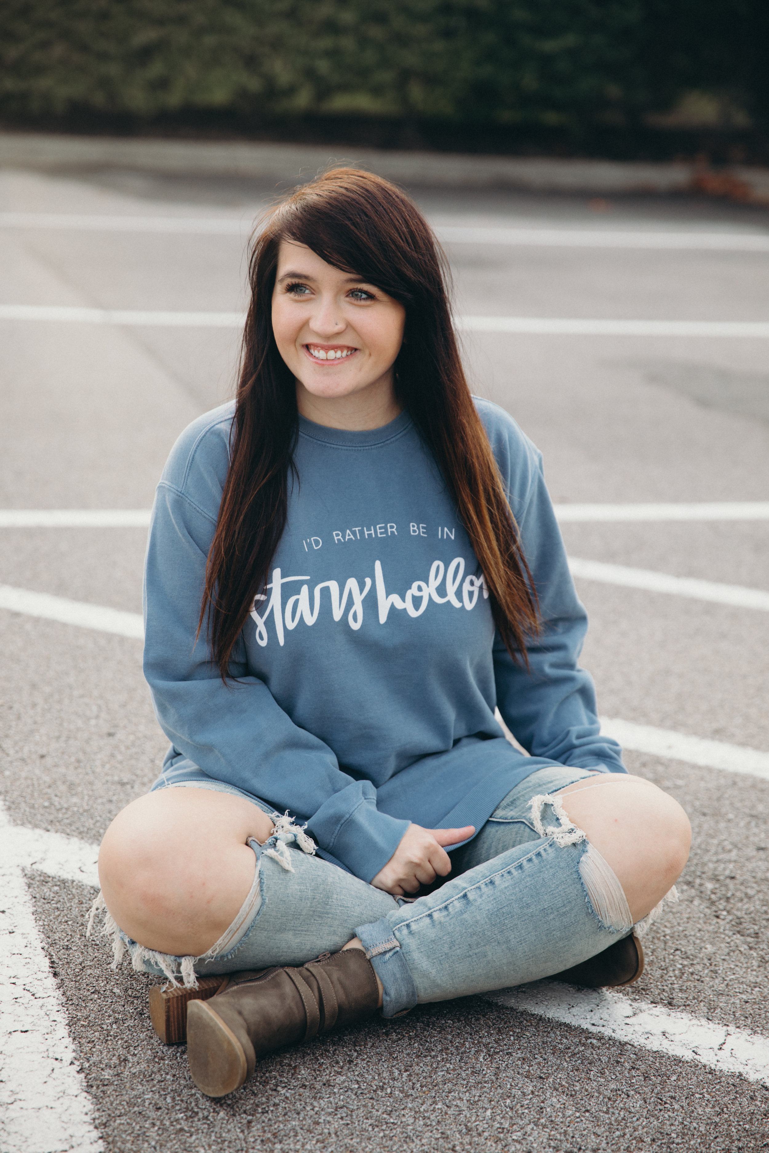 I'd Rather Be In Stars Hollow Gilmore Girls Sweatshirt Chelcey Tate x The Cake Shop www.chelceytate.com