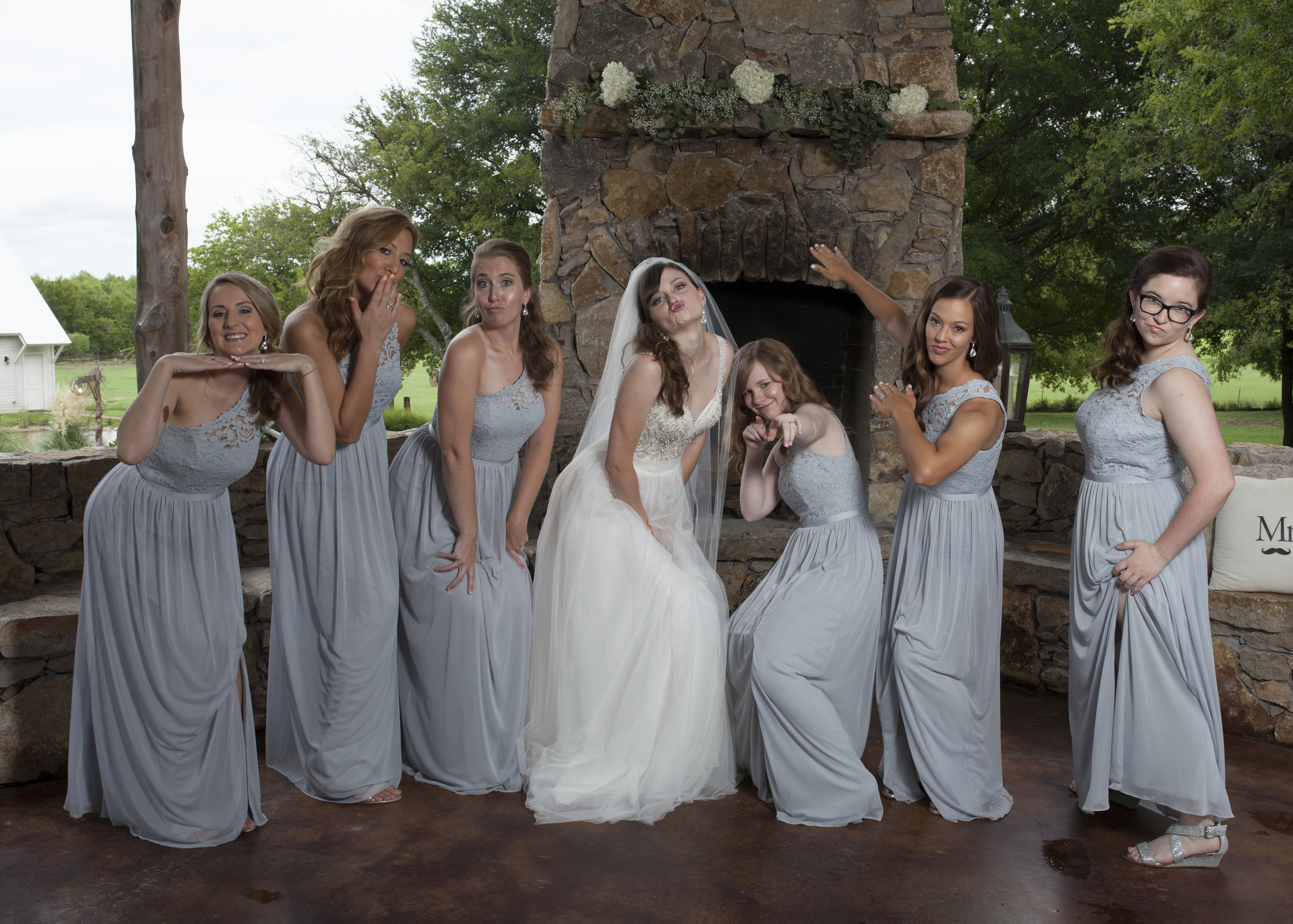 OK, the bridesmaids were goofy as well!