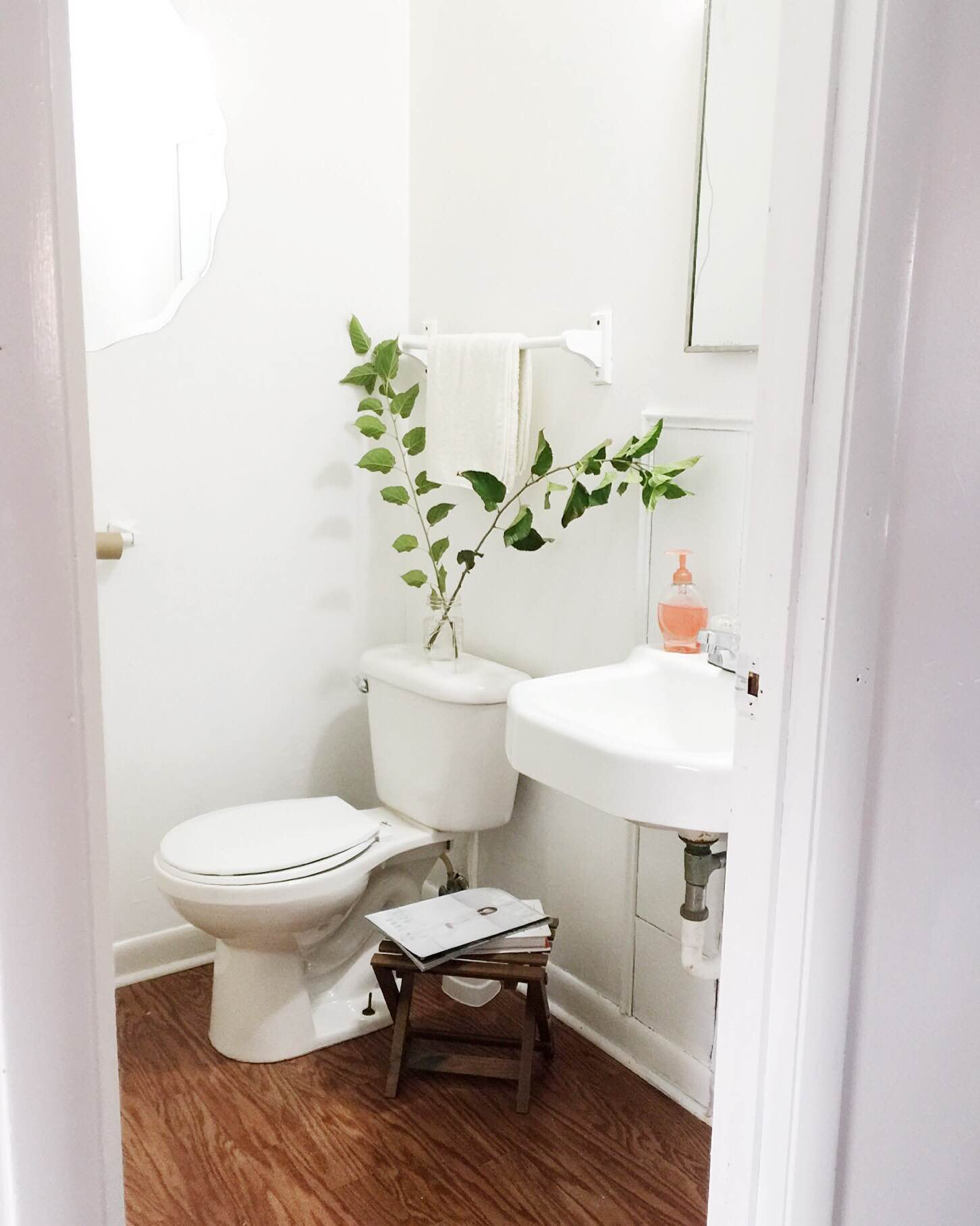 Also, bathrooms don't have to be perfect. Just paint them white and leave them alone.