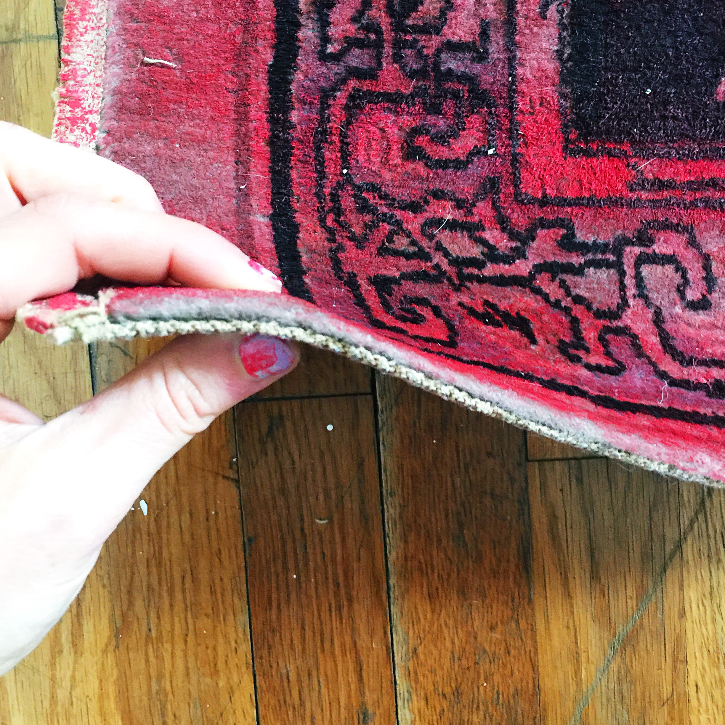 Our rug was an antique and very very low-pile. I attempted rolling but it didn't rub into the carpet like I wanted it to. Feel free to try it.