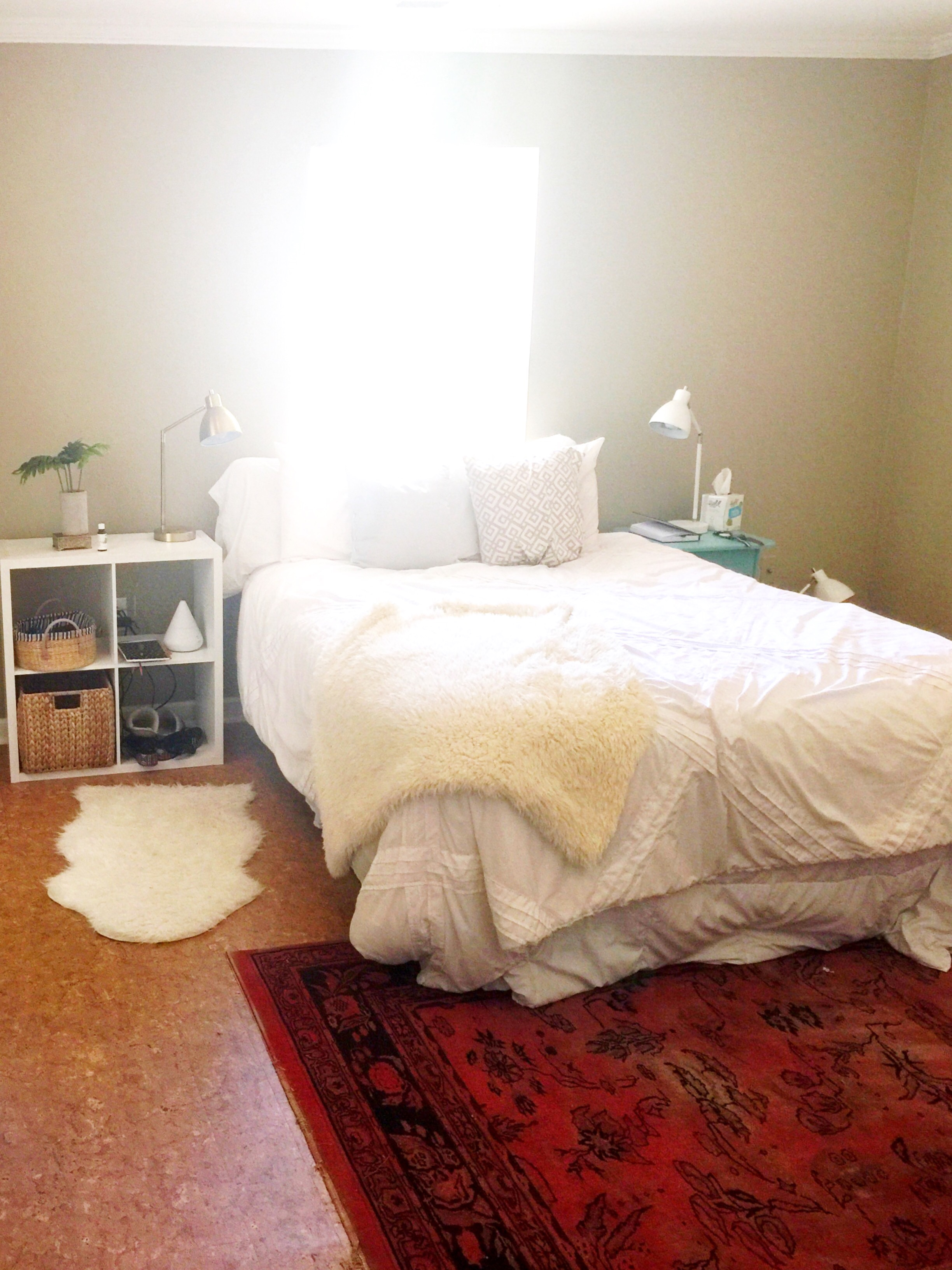 Our bedroom gives me major heart eyes, even though it's far from perfect. We've only been here six days!