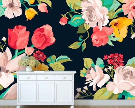 This is the *digital* version of the print we chose for our dining room! I think we're scaling it down some, but it's gorgeous! // muralsyourway.com
