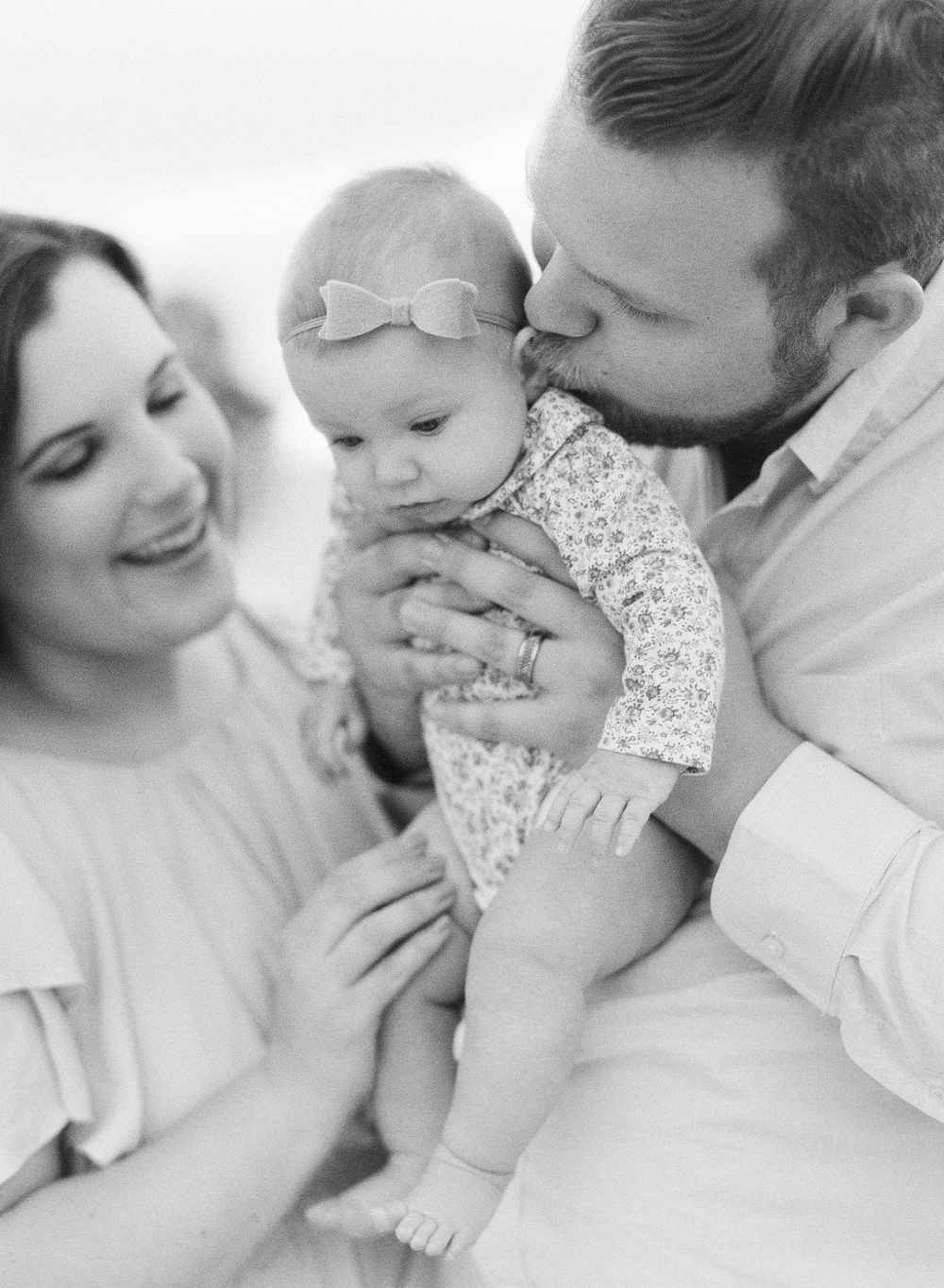 black and white film family photography session