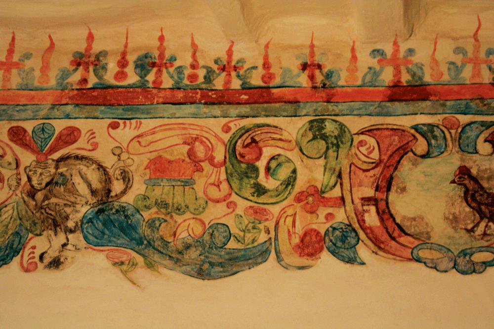 Hand drawn frescos