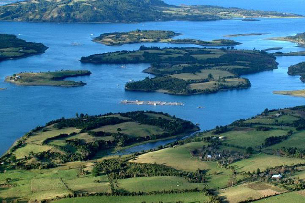Shades of blue and green in the Chiloé Archipelago