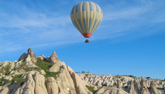1. Exceptional exploration above Cappadocia with sunrise ballooning.