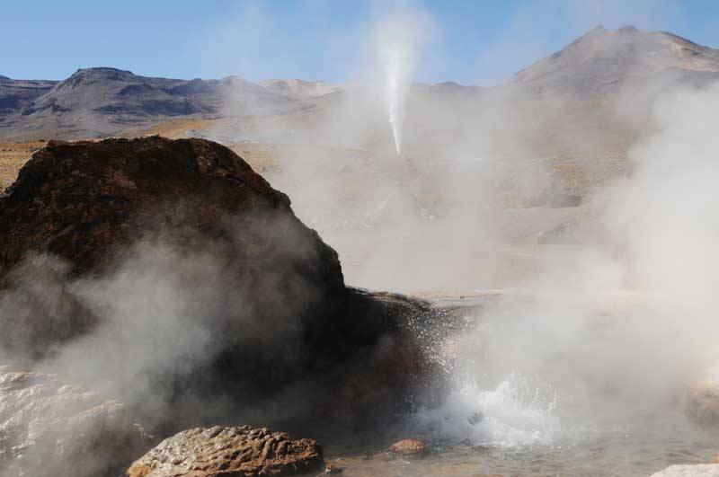 Geysers in Atacama. Photo: Bill Roberson