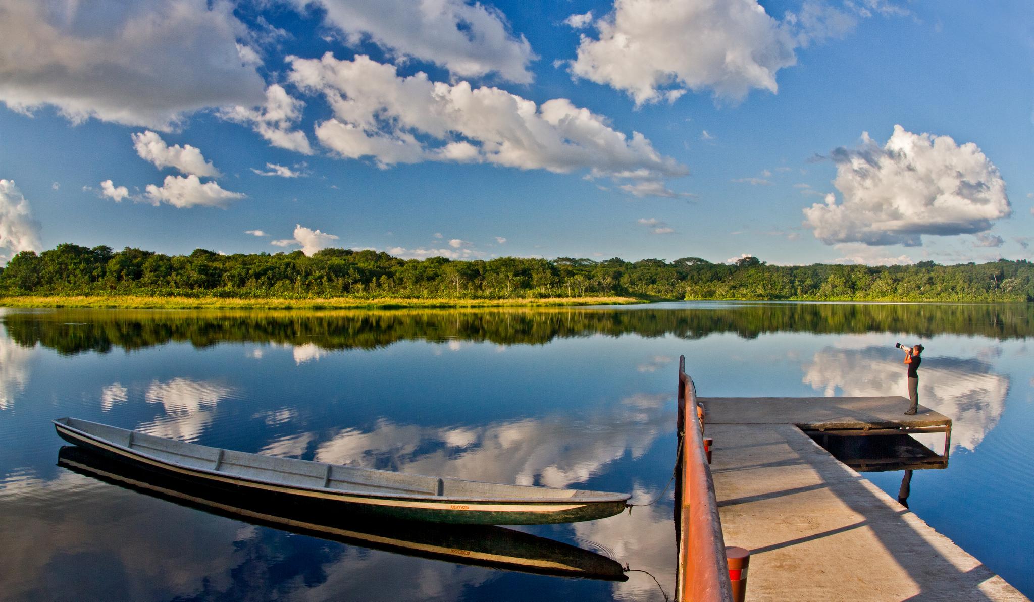 The Napo River, part of the Amazon basin.