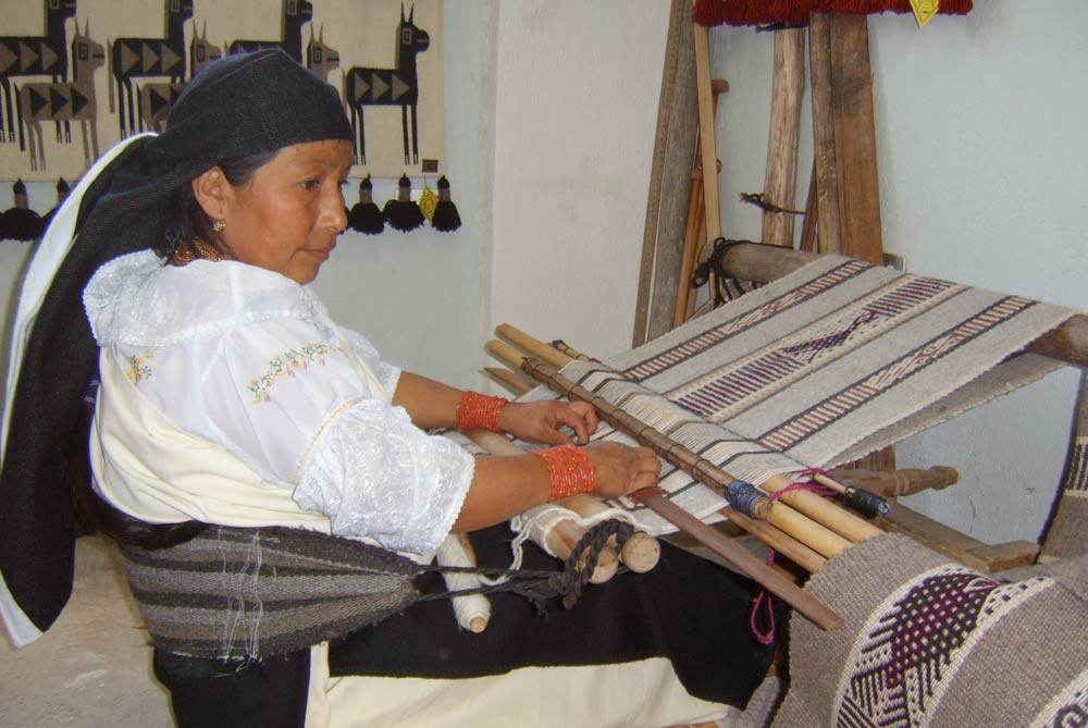 Visit the market town of Otavalo for fine handicrafts