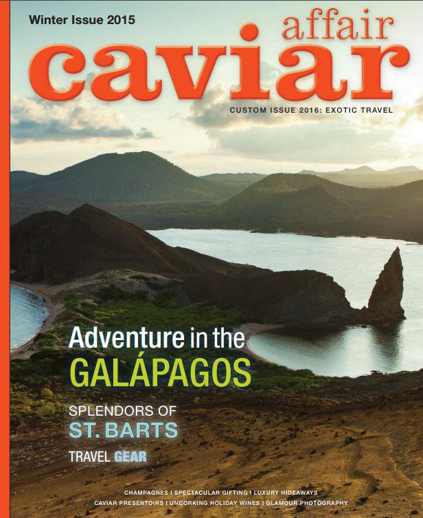 Caviar Affair Magazine cover feature