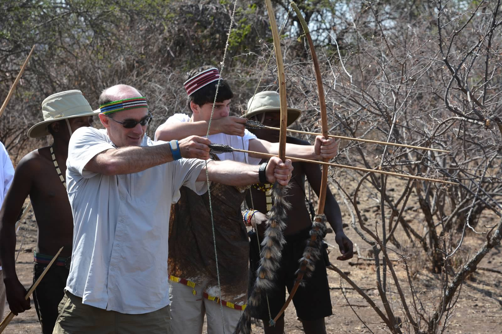 Archery competition with the Hadza