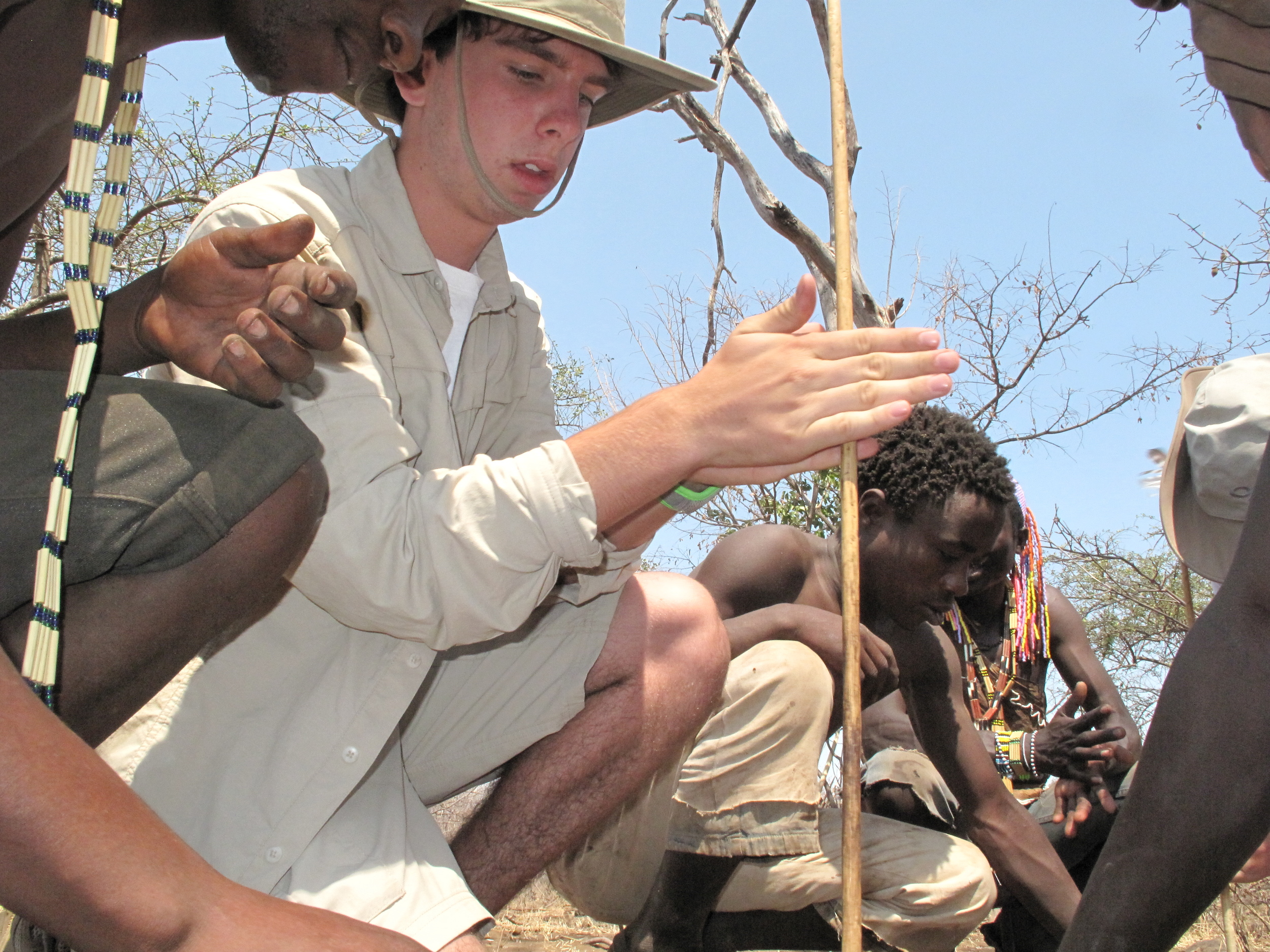 learning to us a fire stick with the Hadza Bushmen.JPG