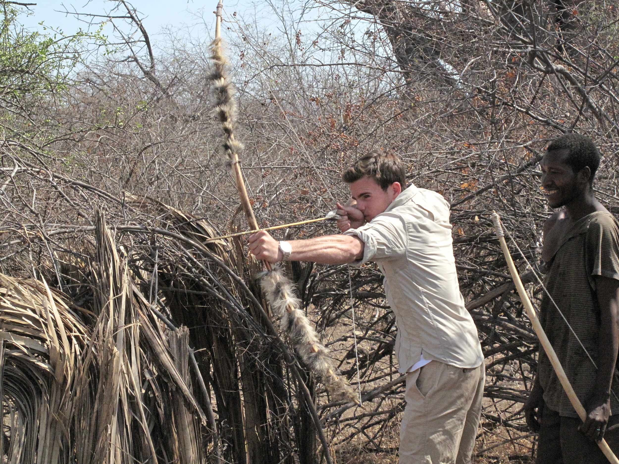 Testing marksmanship with the Hadza