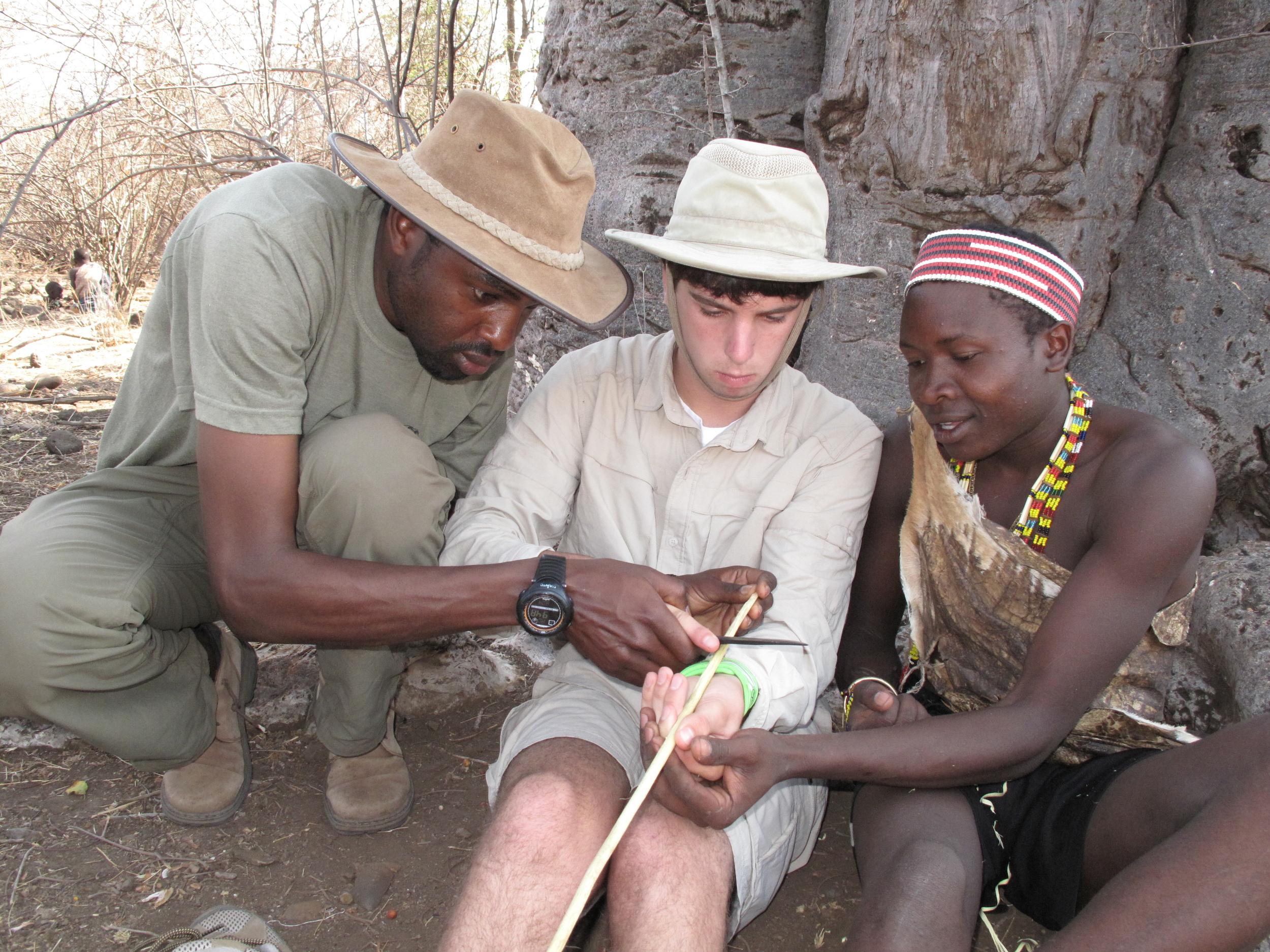 Arrow making with the Hadza