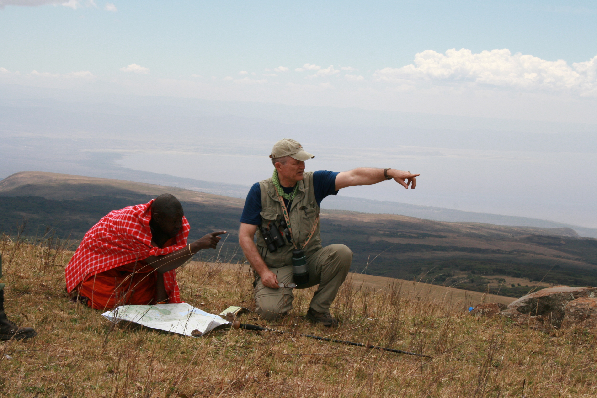 Guides and Masai working together