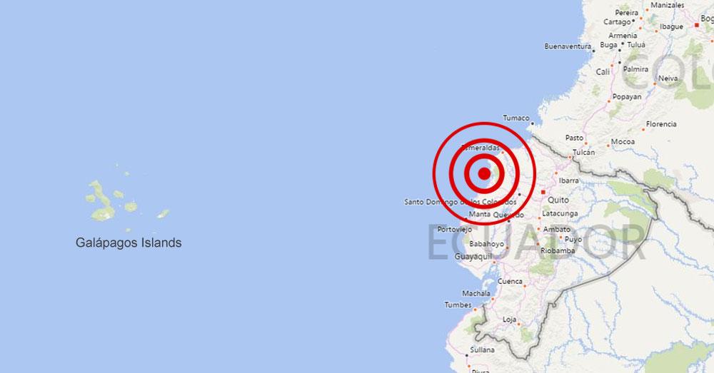 A 7.8 magnitude quake struck the northwestern coastal area.