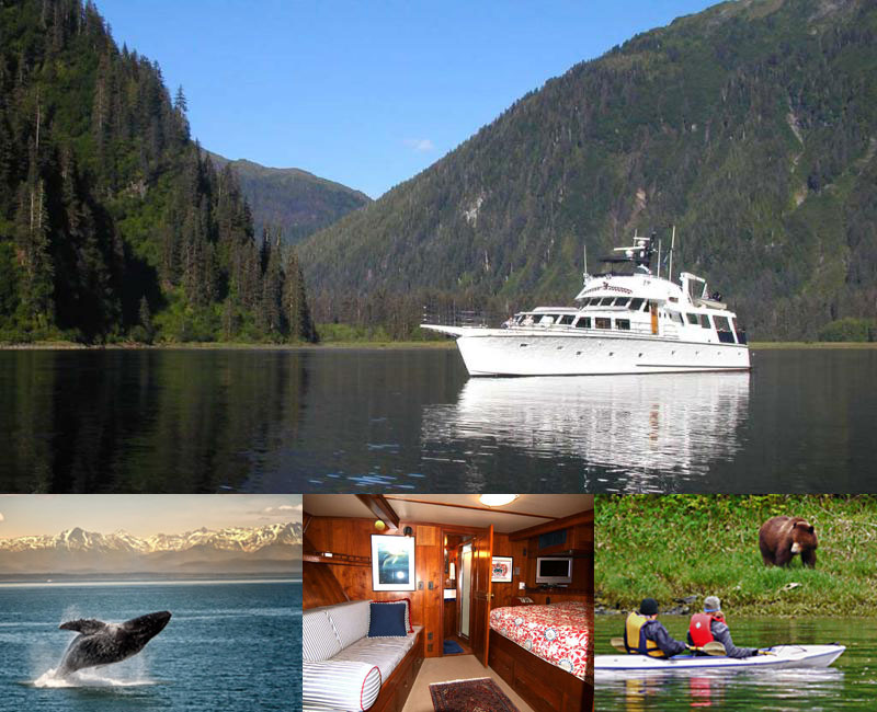 Alaskan Song yacht provides an ideal charter for extended families or group of friends
