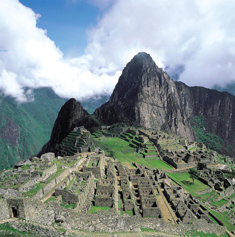 Classice view of Machu Picchu