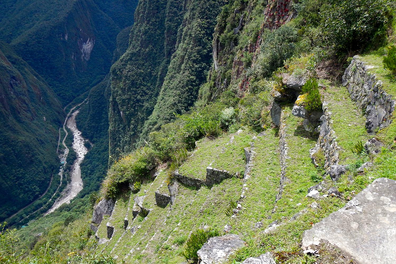 Vilcanota river below Machu Picchu terraces