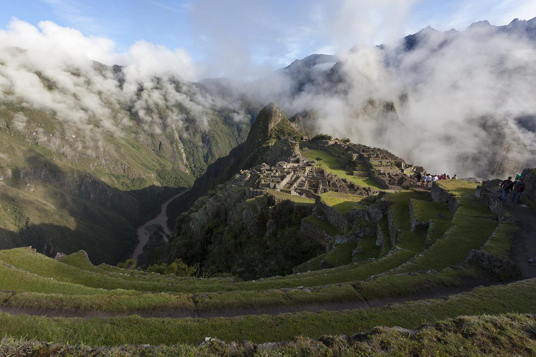 Morning light above Machu Picchu