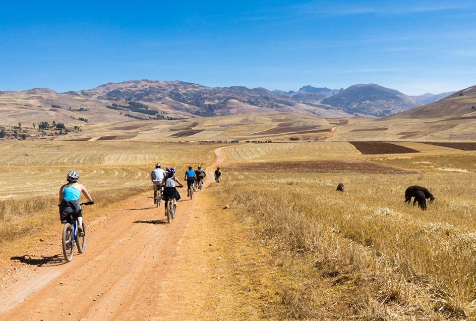 Chincheros plateau bike riding