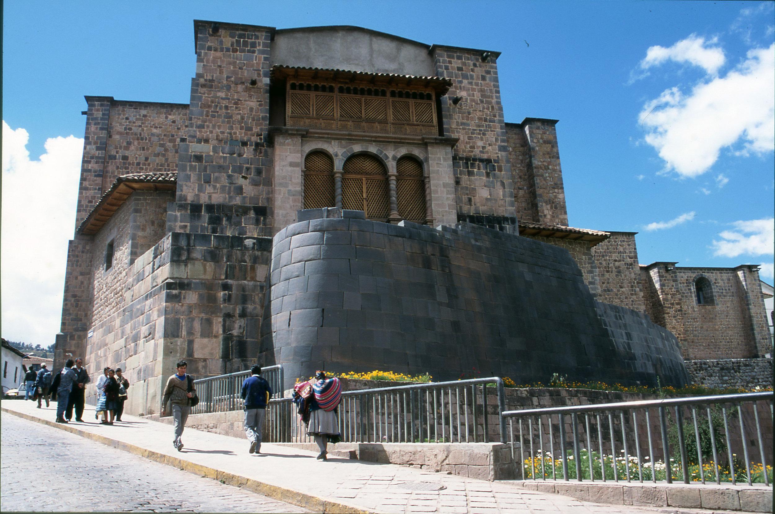 Coricancha: Incan below, Spanish above