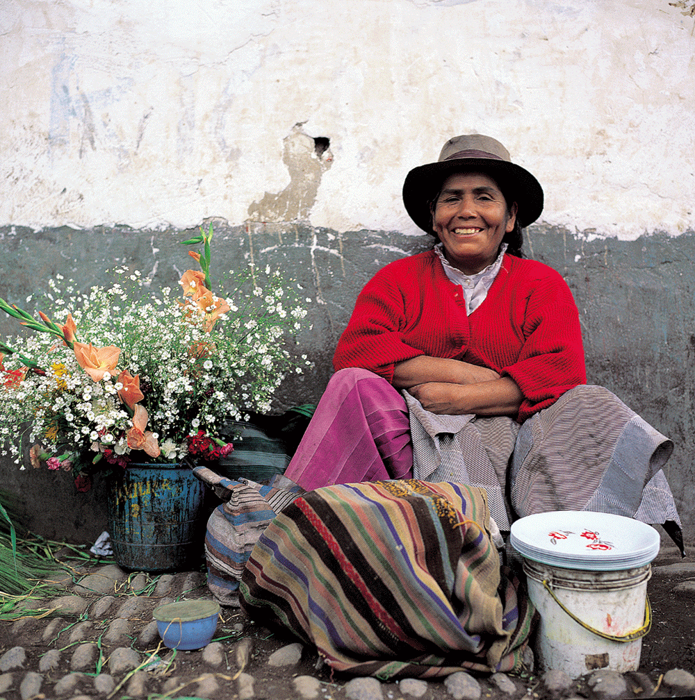 Cusco flower seller