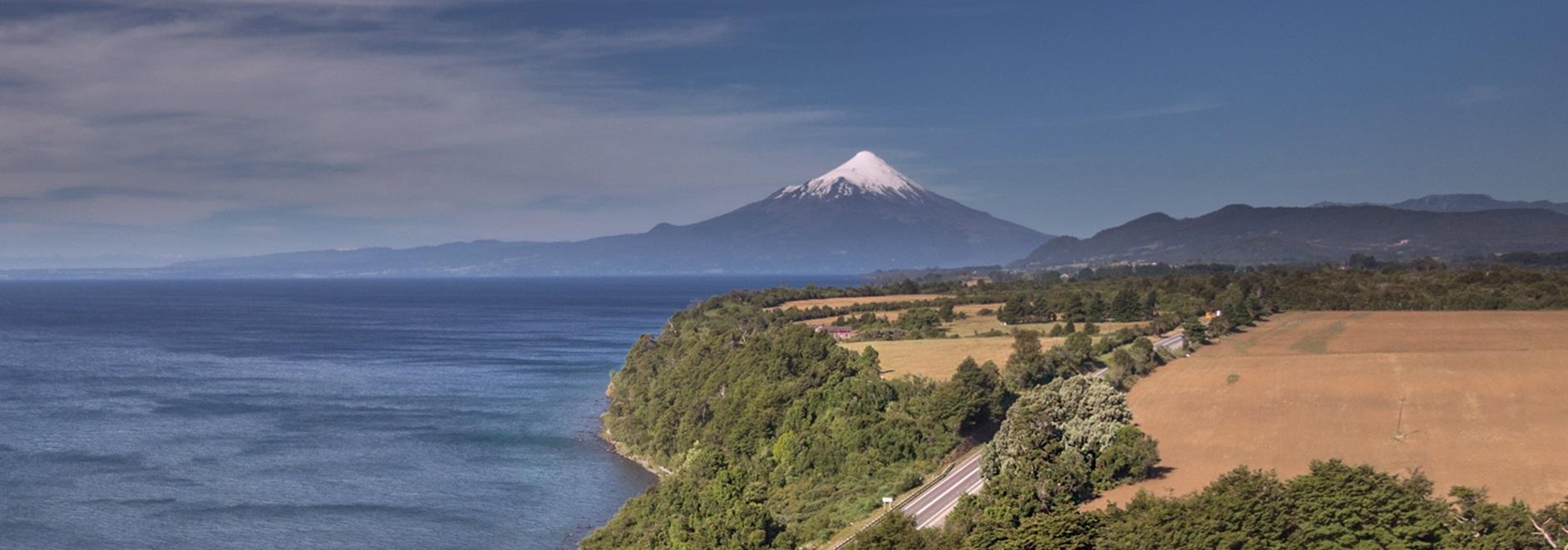Osorno Volcano towering over Lake Llanquihue
